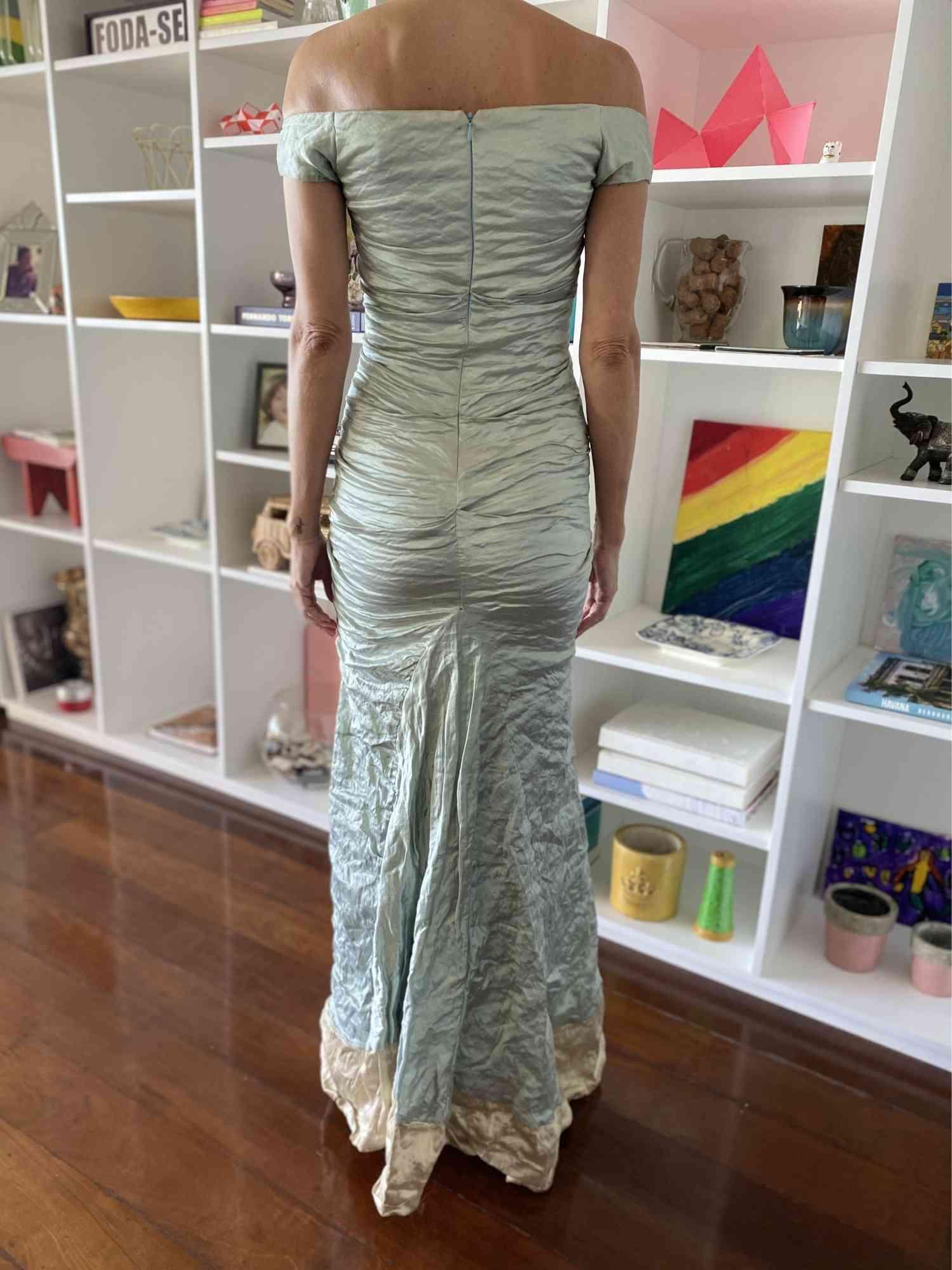 Vestido Nicole Miller Tafetá