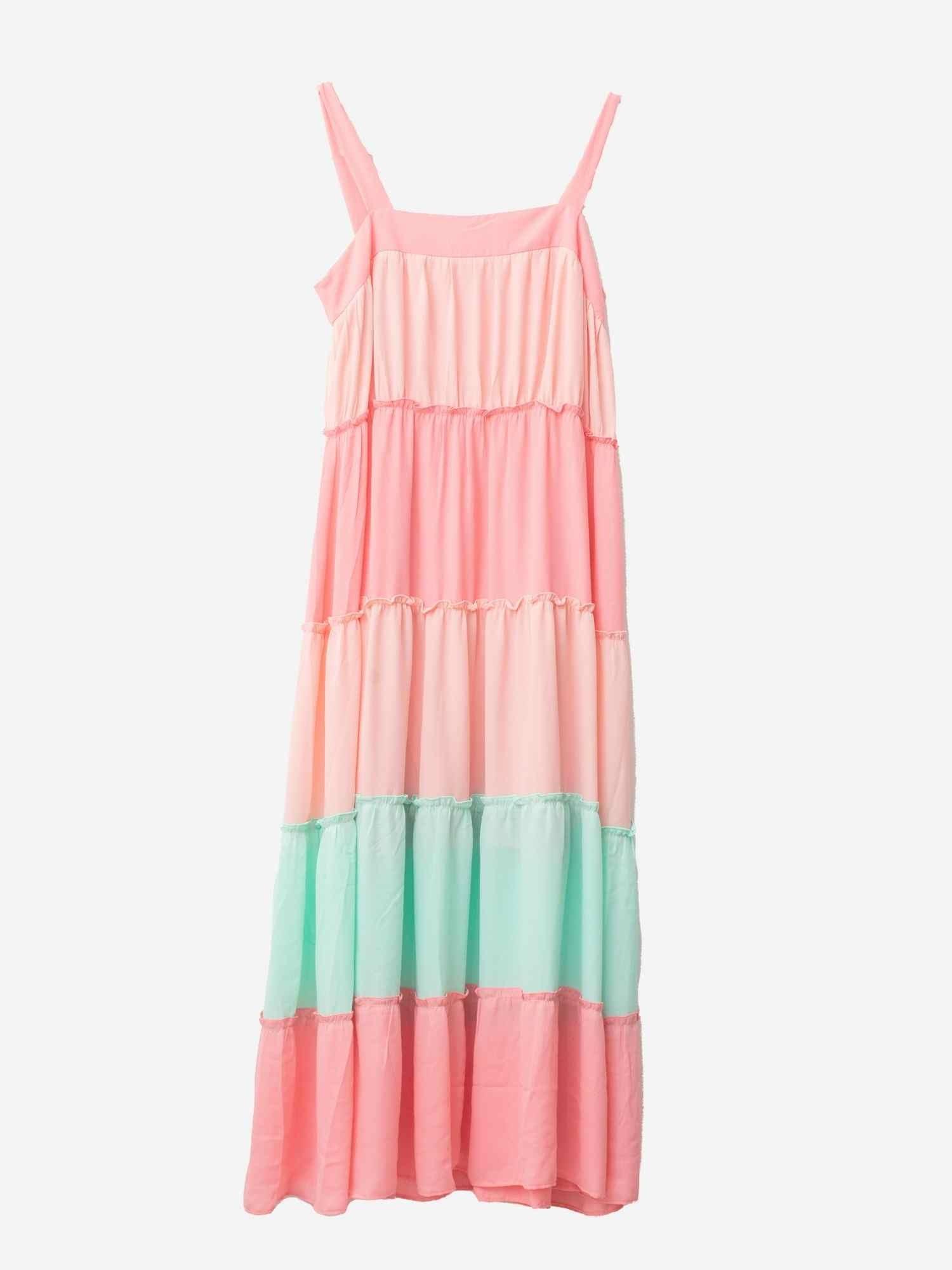 Vestido Tricolor Rosa