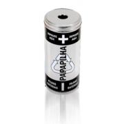 Coletor para descarte de pilhas e baterias em aço Inox