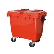 Contêiner para lixo em plástico com pedal 660 litros