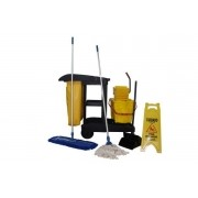 Kit completo do carrinho funcional de limpeza