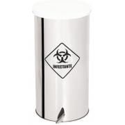 Lixeira de Aço Inox com tampa COLORIDA E PEDAL 95 Litros