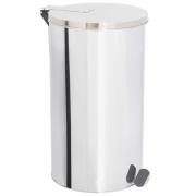 Lixeira de Aço Inox com tampa E PEDAL 120 Litros