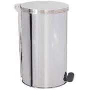 Lixeira de Aço Inox com tampa E PEDAL 30 Litros