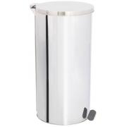 Lixeira de Aço Inox com tampa E PEDAL 60 Litros