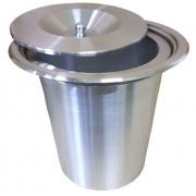 Lixeira de Embutir de Pia em Aço Inox 430 - 8 Litros
