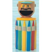 Lixeira em Fibra de Vidro Infantil Lápis cabeça de palhaço 100 Litros