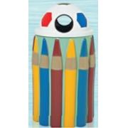 Lixeira em Fibra de Vidro Modelo Infantil Lápis