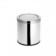 Lixeira Inox com tampa meia esfera 6,9 Litros Elegance