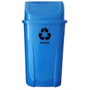 Lixeira plástica com tampa basculante 60 litros