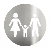 Placa Sinalizadora Aço Inox Cortado a laser  Dizeres: Família