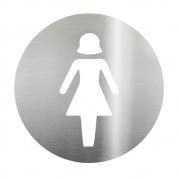 Placa Sinalizadora Aço Inox Cortado a laser  Dizeres: Feminino