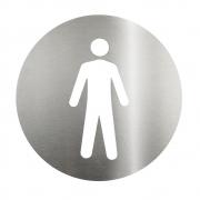 Placa Sinalizadora Aço Inox Cortado a laser  Dizeres: Masculino