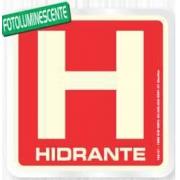 Placa Sinalizadora Alumínio 15 X 15 cm - Hidrante