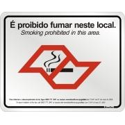 Placa Sinalizadora Alumínio 20 x 25 cm - Proibido Fumar neste Local