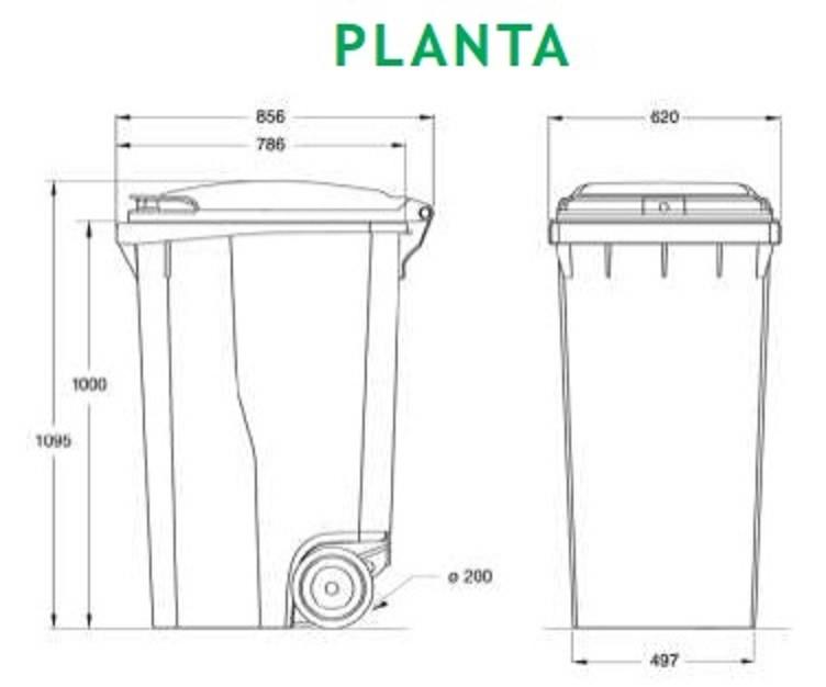 Carrinho coletor de Lixo 360 Litros com pedal   - Reis Lixeiras