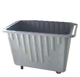 Carrinho coletor em fibra de vidro com Rodízios sem tampa 330 litros