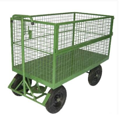 Carro Plataforma Fechado Em Tela 500 kg  - Reis Lixeiras