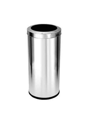 Cesto para lixo em aço inox com tampa Aro 22 Litros