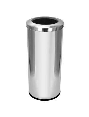Cesto para lixo em aço inox com tampa Aro 50 Litros
