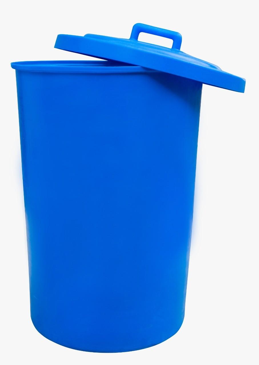 Cesto plástico redondo com Tampa de Sobrepor capacidade de 200 Litros