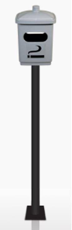 Cinzeiro com pedestal em Fibra de vidro
