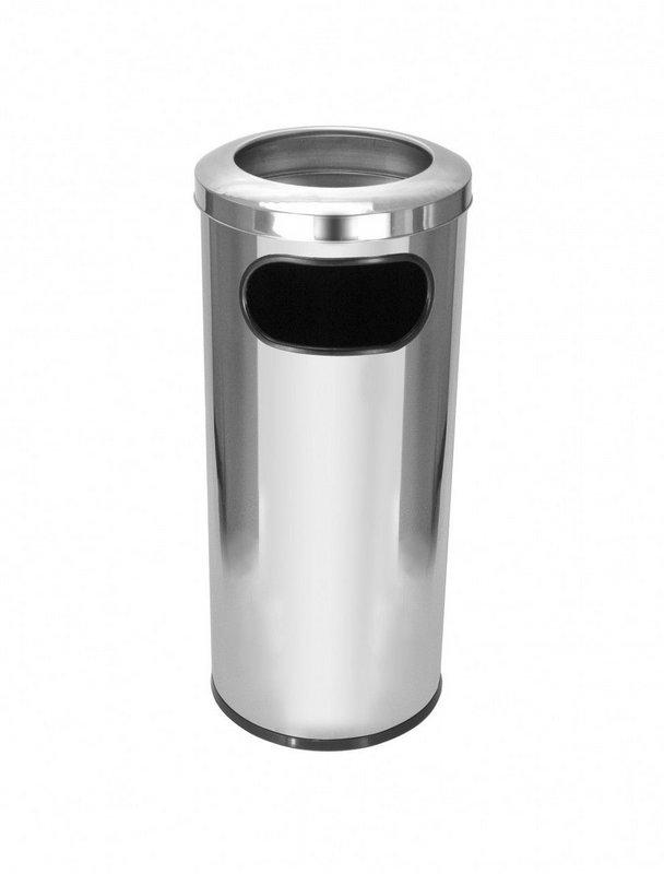 Cinzeiro lixeira em aço inox 50 litros   - Reis Lixeiras