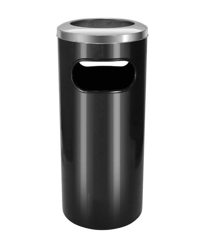 Cinzeiro lixeira plástico com aro em aço inox 50 litros   - Reis Lixeiras