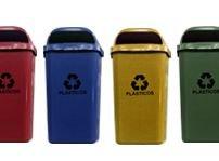 Conjunto de coleta Seletiva 2 Cestos Plasticos 50 litros  - Reis Lixeiras