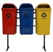 Conjunto de coleta Seletiva 3 Cestos Plasticos 50 litros