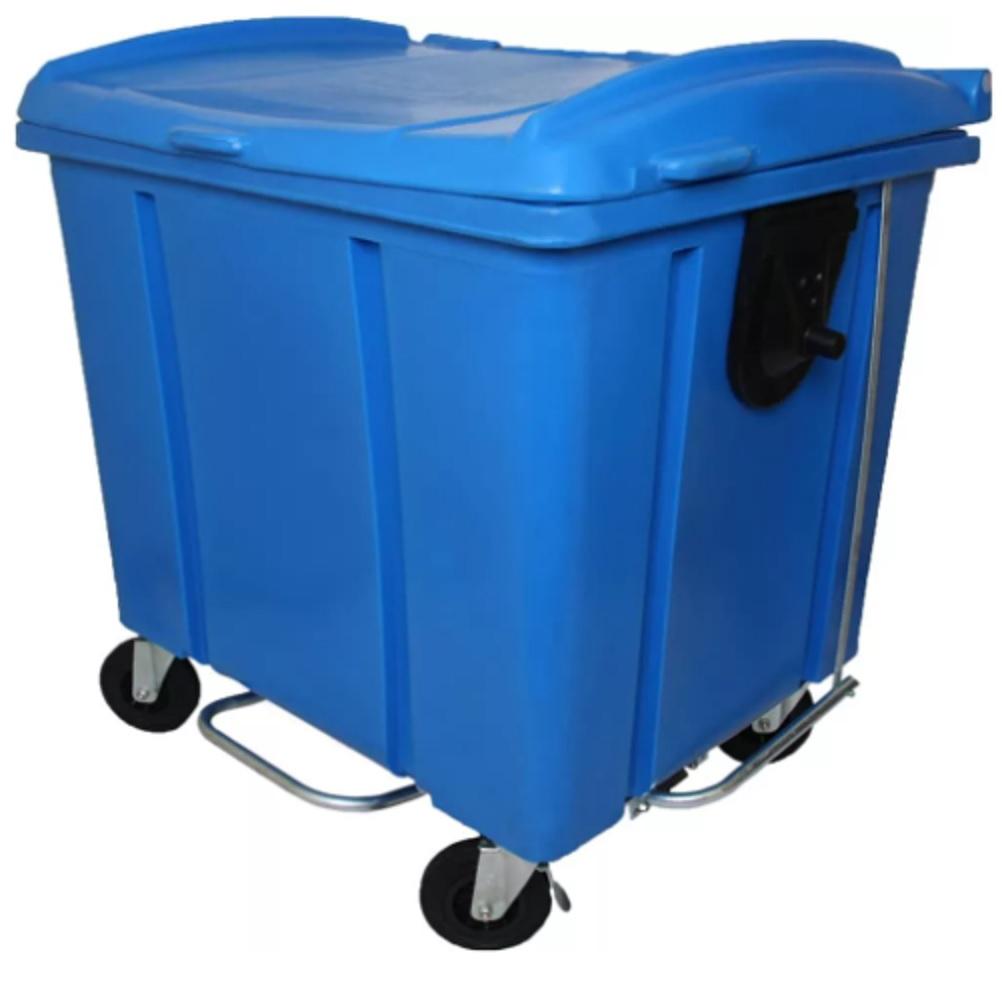 Container de lixo 1000 litros Roto Moldado Com pedal