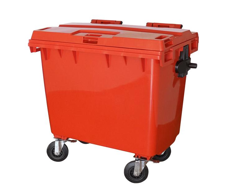 Contêiner para lixo em plástico sem pedal 660 litros