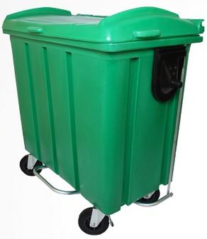 Contêiner para lixo em plástico com pedal 700 litros