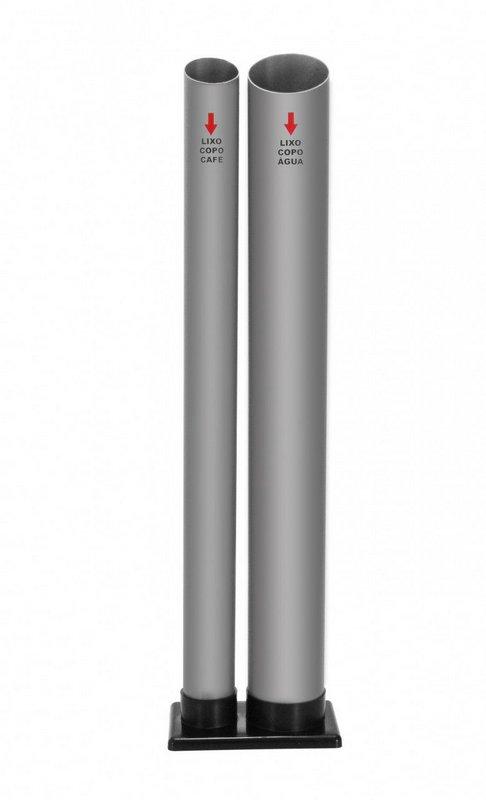 Dispensador de copos para café e outro para água embalagem 2 unidades  - Reis Lixeiras