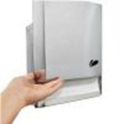 Dispenser para papel toalha interfolhas em aço inox 600 folhas