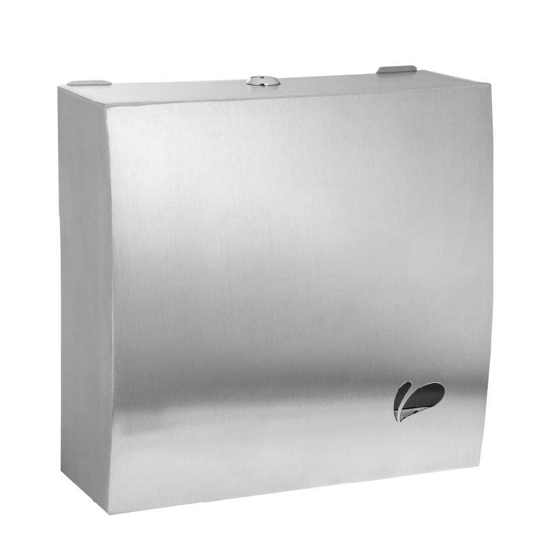 Dispenser para papel toalha interfolhas em aço inox escovado