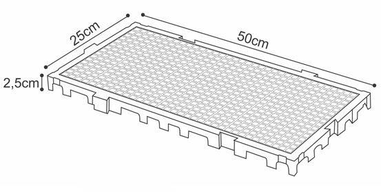Estrados / Palete / Pallets Em Plástico 50 X 25 X 2,5 Cm