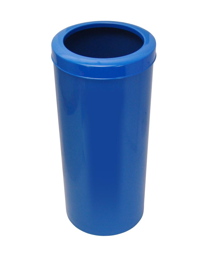 Lixeira com Aro toda em plástico 50 litros.  - Reis Lixeiras