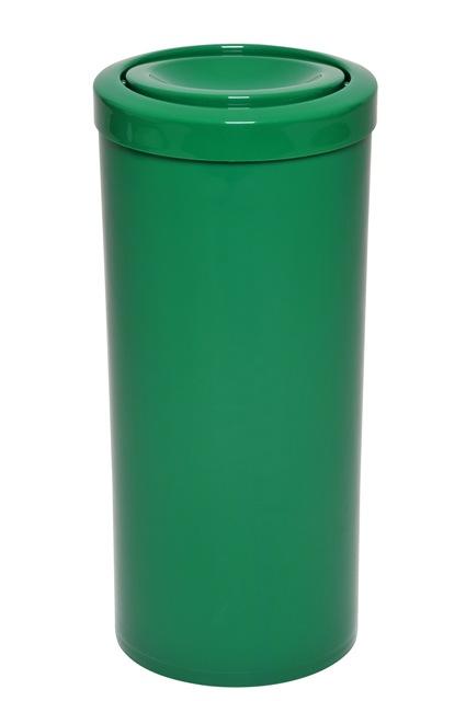 Lixeira com tampa meia esfera plástico 22 Litros