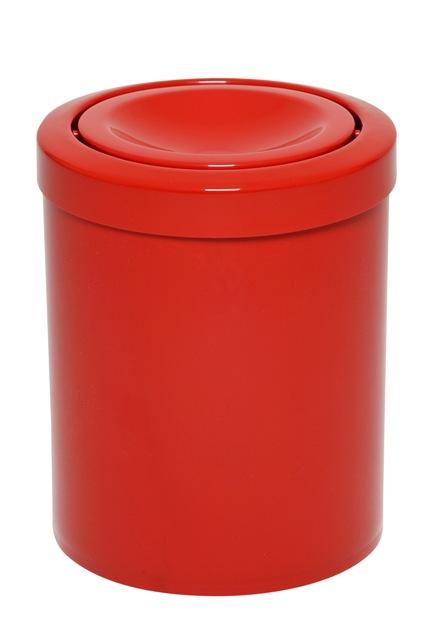 Lixeira com tampa meia esfera toda em plástico 13 litros