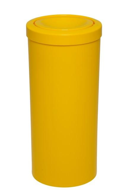 Lixeira com tampa meia esfera toda em plástico 50 Litros  - Reis Lixeiras