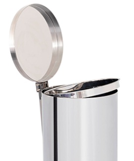 Lixeira de Aço Inox com tampa E PEDAL 12 Litros  - Reis Lixeiras