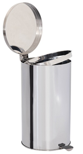 Lixeira de Aço Inox com tampa E PEDAL 60 Litros  - Reis Lixeiras