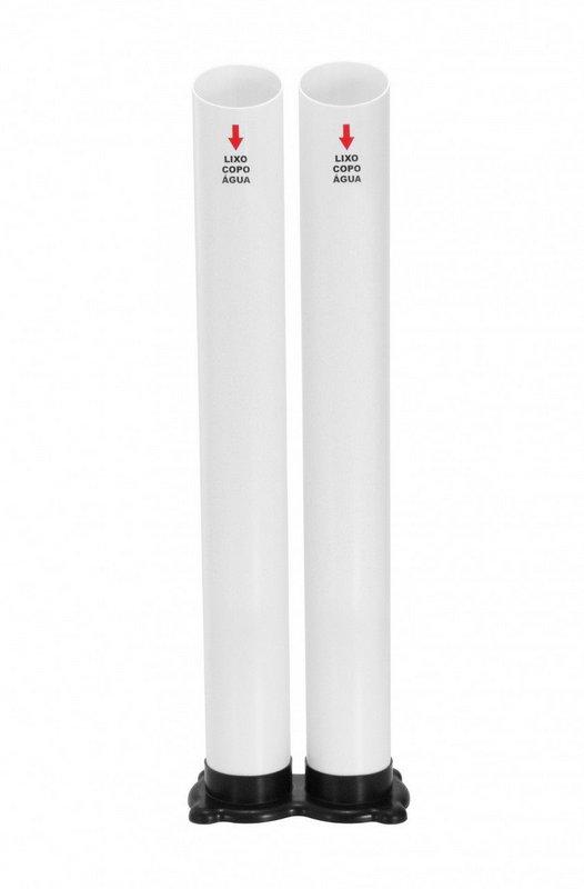 Lixeira de copos com 2 tubos água