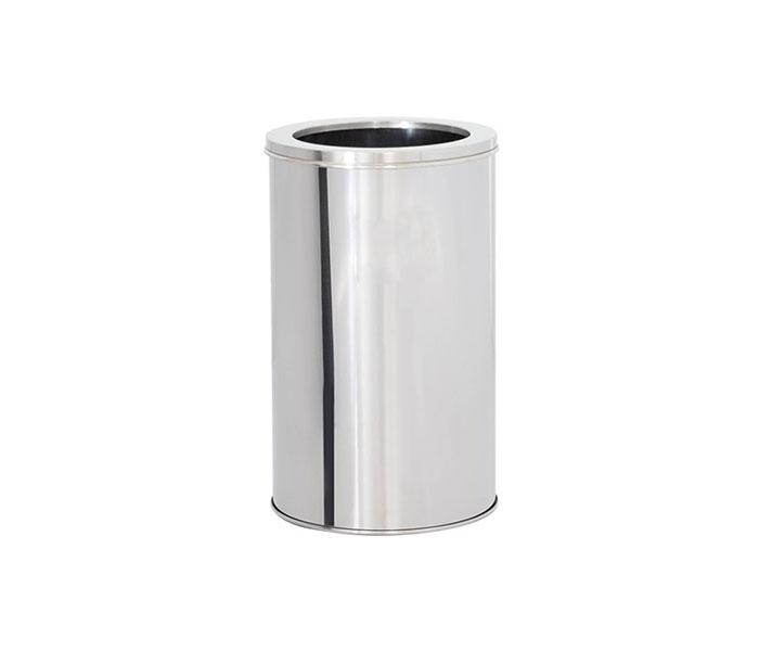 Lixeira em Aço Inox com Aro 30 Litros  - Reis Lixeiras