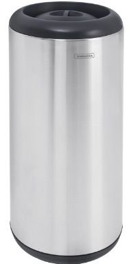 Lixeira em aço inox com aro e tampa em polipropileno 15 litros Tramontina