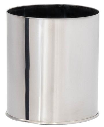 Lixeira em Aço Inox Sem tampa 10 Litros  - Reis Lixeiras