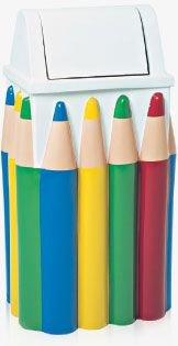 Lixeira em Fibra de Vidro Modelo Infantil Lápis 100 Litros