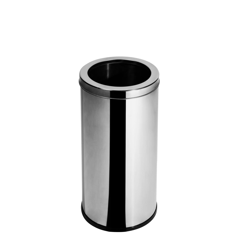 Lixeira Inox com Aro 14 Litros Elegance  - Reis Lixeiras