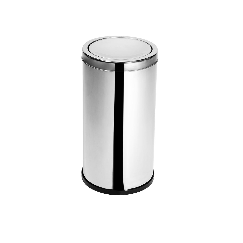 Lixeira Inox com tampa meia esfera 10 Litros Elegance   - Reis Lixeiras